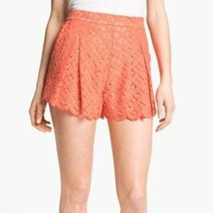 Vince Camuto High Waisted Lace Shorts Pink Size 0